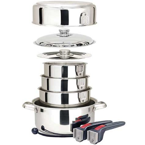 nesting cookware magma steel stainless piece gourmet boat cooking galley pots pans whitworths power induction ten storage marine gear west