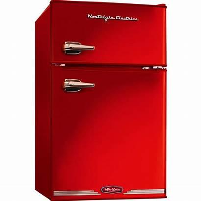 Fridge Mini Retro Refrigerator Freezer Dorm Compact