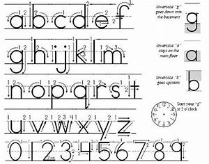 trickles handwriting With learning letters