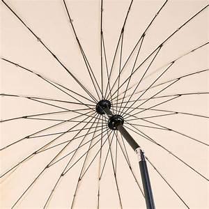 Sonnenschirm 2 M Durchmesser : sonnenschirm gartenschirm sonnenschutz schirm mit kurbel rund 2 5m ecru beige ebay ~ Markanthonyermac.com Haus und Dekorationen