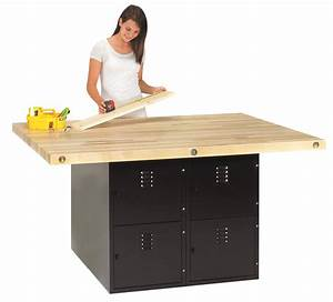 Cabinet Work Benches Heavy Duty 4-Station Workbench