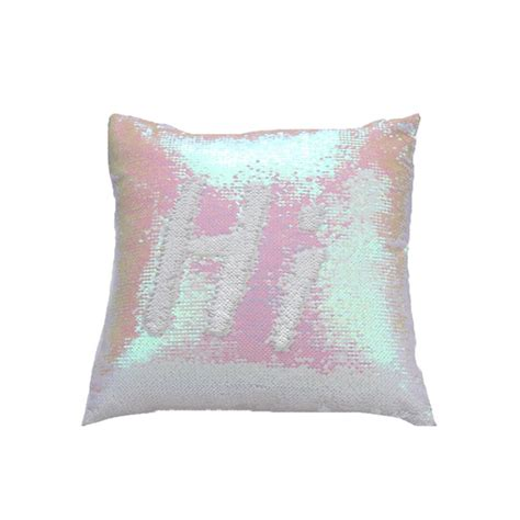 mermaid pillow cover champagnewhite change color sequins