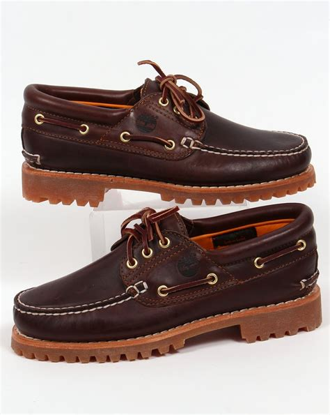 Timberland Boat Shoes Australia by Timberland 3 Eye Classic Lug Shoes Brown Boots Boat Deck Mens