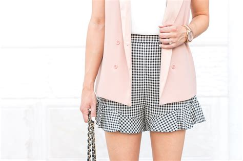 Gingham Shorts how to dress up gingham shorts treats trends