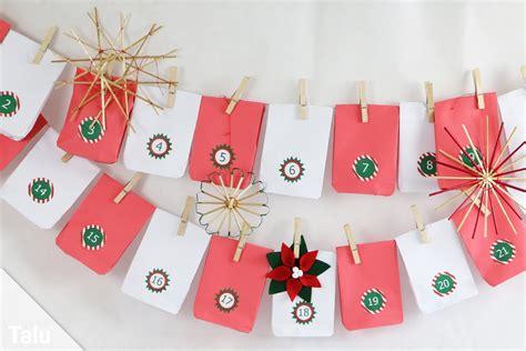weihnachtskalender selber basteln adventskalender mit t 252 ten basteln anleitung f 252 r papiert 252 ten talu de