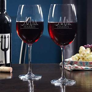 Bride, U0026, Groom, Personalized, Wine, Glasses, For, Couples