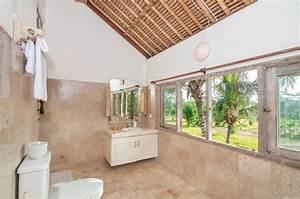 Nettoyez La Toilette Avec Le Plafond En Bambou Image Stock