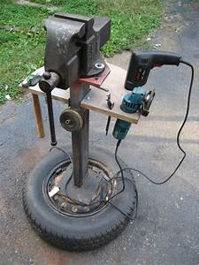 Homemade mobile vice & tool stand from Garage Journal