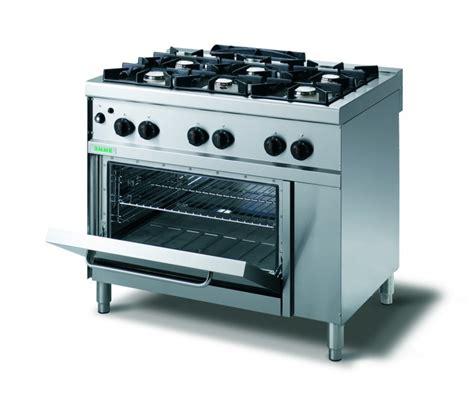 cucina inox per ristoranti 6 fuochi a gas con forno cucine
