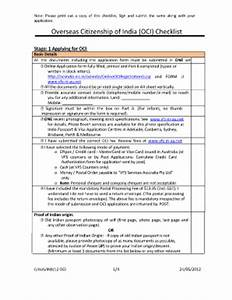 fillable online vfs in au overseas citizenship of india With document checklist indian tourist visa