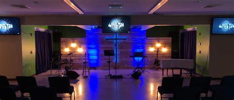 spots  light church stage design ideas