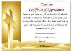 certificate of appreciation religious