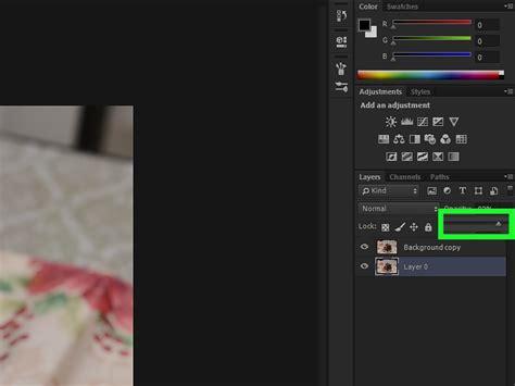 adjust opacity  adobe photoshop  steps