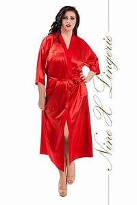 nine x robe de chambre longue en satin s m l xl 2xl 3xl With robe de chambre satin