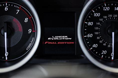mitsubishi lancer evolution  final edition top speed