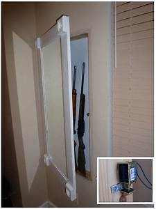 Diy Undercover In Wall Gun Cabinet With Hidden Lock