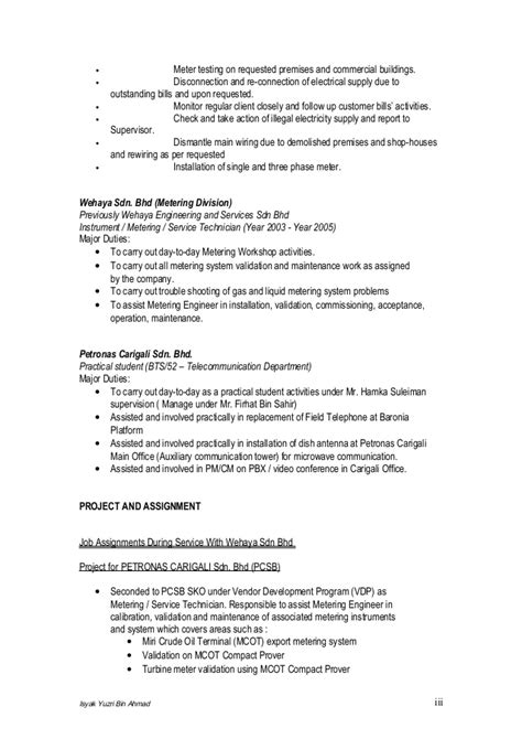 resume for practical student
