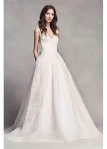 vera wang brautkleider white by vera wang pleated v neck wedding dress davids bridal