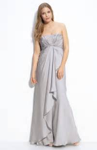 cheap wedding ceremony and reception venues silver strapless empire bridesmaid dress by