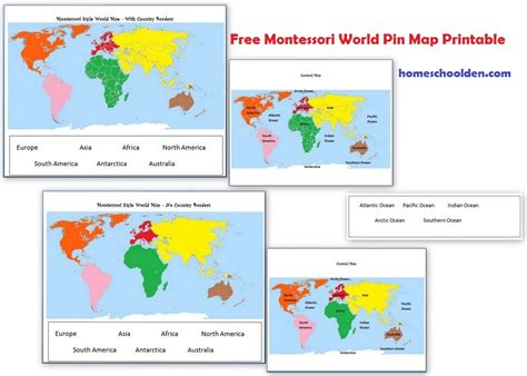 gallery free montessori preschool curriculum drawings 886 | montessori geography activities free montessori world map freemontessoriworldgeographymap printable