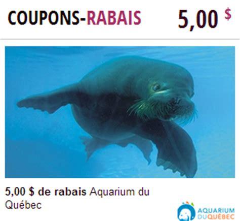 coupon rabais pour l aquarium du qu 233 bec coupons au qu 233 bec