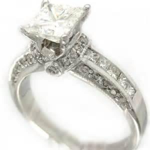 white gold princess cut engagement rings 14k white gold princess cut engagement ring deco style 2 40ctw knrinc on artfire