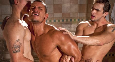 Angelo Marconi And Brandon Bangs And Phenix Saint In Brutal