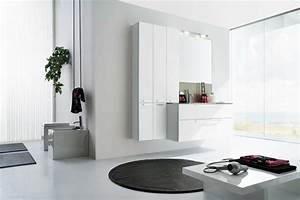 la salle de bains blanche design en 75 idees With salle de bain design avec porcelaine blanche à décorer