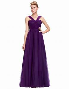 long purple tulle backless elegant bridesmaid dress With wedding shoppe bridesmaid dresses