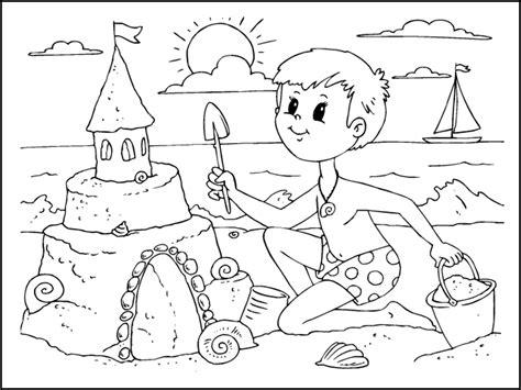 disegni bimbi al mare da colorare disegni da colorare l estate mamma e casalinga