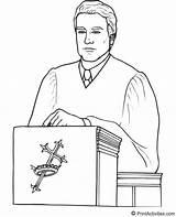 Coloring Pastor Pulpit Clergyman Template Sketch Designlooter sketch template