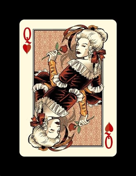 queen  hearts  images cool playing cards custom