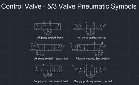 control valve  valve pneumatic symbols  cad