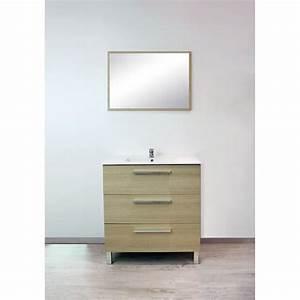 meuble de salle de bains pallas chene clair meuble de With meuble de salle de bain chene clair