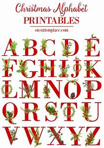 christmas alphabet printables on sutton place With holiday alphabet letters