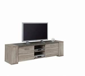 Meuble Chene Gris : meuble tv stone tv2 chene gris meubles tv but ~ Teatrodelosmanantiales.com Idées de Décoration