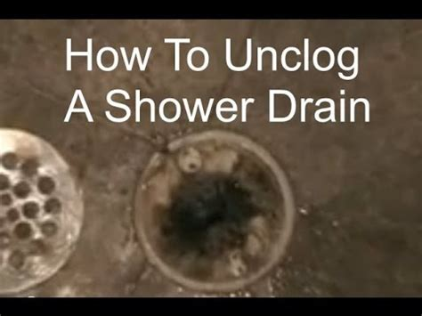 how to fix a clogged shower unclogging a shower drain how to unclog a shower drain