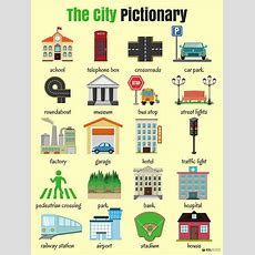 Places And Shops Around Town Or City Vocabulary In English  Chart Sheet  English Vocabulary