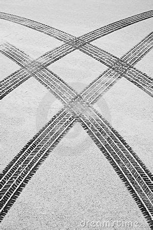 Winter Tire Tracks Royalty Free Stock Photography - Image