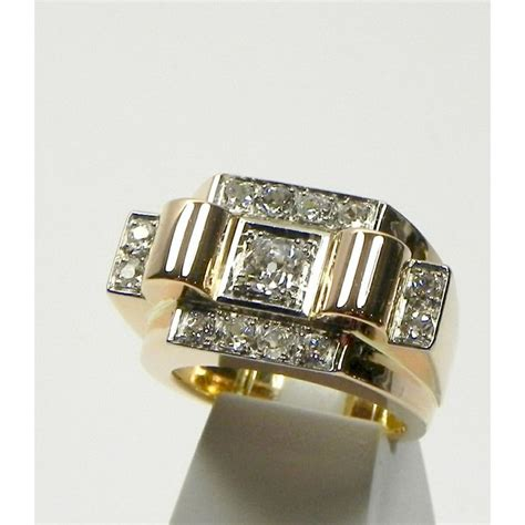 bague tank deco 17 best images about self antique rings on white gold antiques and