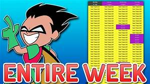 Cartoon Network Schedule  Parts  Wiring Diagram Images
