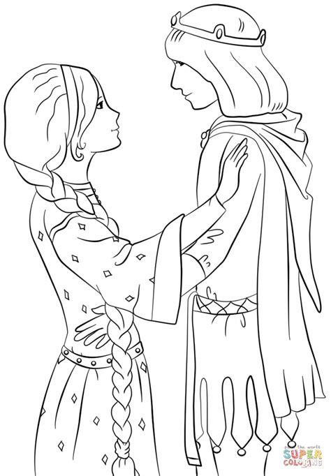 princess  prince coloring page  printable coloring pages