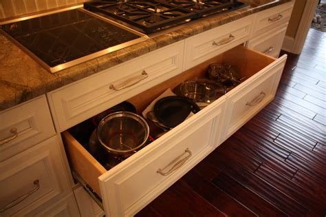 kitchen cabinet drawer deep pan drawer traditional kitchen cleveland by