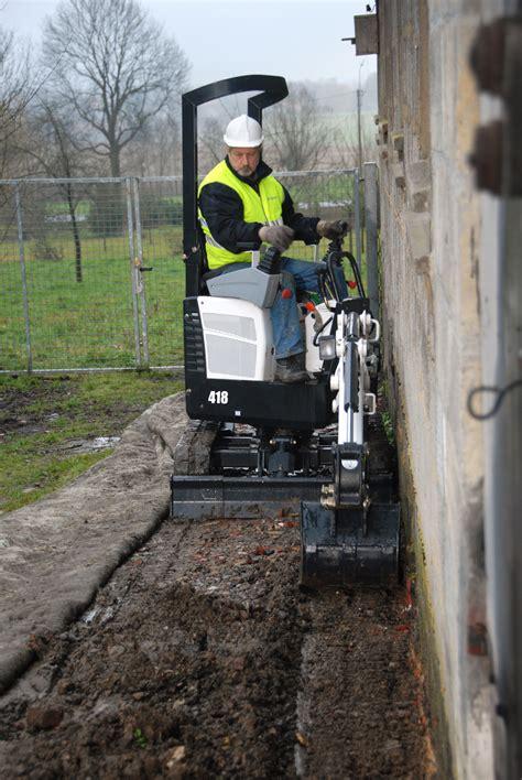 mini excavators bobcat  underground construction
