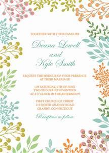 spring leaves 2017 printable wedding invitation set With free printable spring wedding invitations