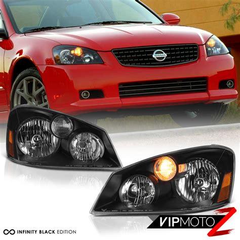 nissan altima headlights for 2005 2006 nissan altima base s se sl sedan black front