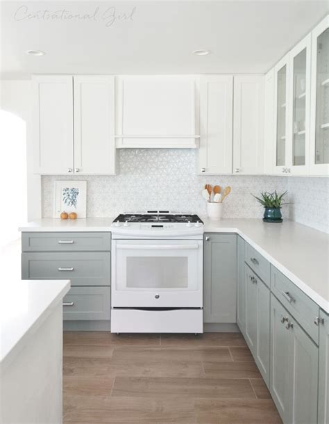 white upper cabinets range wall pinteres
