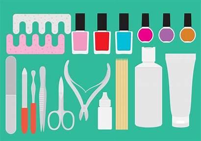 Manicure Pedicure Vector Vectors Tool Makeup Clipart