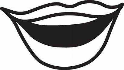 Mouth Clip Clipart Talking Lips Cliparts Open