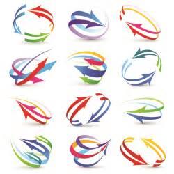 free logo design modern 3d logos design elements vector 03 vector logo free